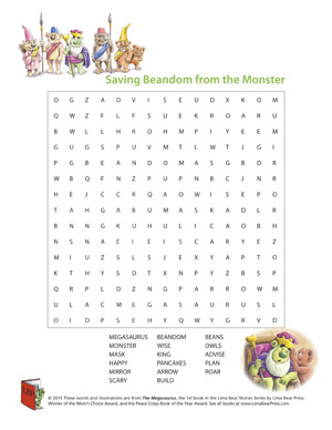 The Megasaurus Word Search